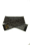 Multi Black Crystal Strand Belt-Front View | SM Dance Fashion