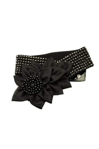 Tiered Floral Crystal Belt-Front View | SM Dance Fashion