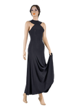 Halter Keyhole Back Ballroom & Smooth Dress-Front View | SM Dance Fashion