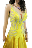 Yellow Ballroom Dress - Where to Buy Dancewear SM Dance Fashion Competition Outfit Costume