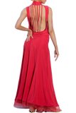 High Collar Open Back Ballroom Dress | SM Dance Fashion