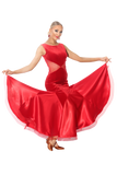 Velour & Satin Knitted Ballroom & Smooth Dress - Where to Buy Dancewear SM Dance Fashion Competition Outfit Costume