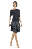 Asymmetric Dolman Blouse-Front View | SM Dance Fashion