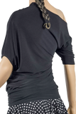 Asymmetric Dolman Blouse-Back Top View | SM Dance Fashion
