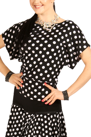 Loose Fit Polkadot Blouse - Where to Buy Dancewear SM Dance Fashion Competition Outfit Costume