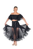 Mini Drapped Flounce Blouse - Where to Buy Dancewear SM Dance Fashion Competition Outfit Costume