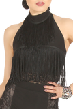 Halter Layer Fringe Lace Blouse - Where to Buy Dancewear SM Dance Fashion Competition Outfit Costume