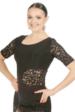 Lace Tee Short Sleeves Blouse - Where to Buy Dancewear SM Dance Fashion Competition Outfit Costume