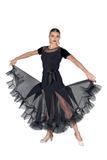 Jewel Velvet Short Sleeve Blouse - Where to Buy Dancewear SM Dance Fashion Competition Outfit Costume