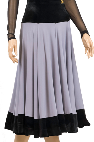 Velour Gore Ballroom & Smooth Skirt - Where to Buy Dancewear SM Dance Fashion Competition Outfit Costume