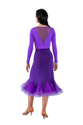 Godet silhouette Ballroom & Smooth Skirt - Where to Buy Dancewear SM Dance Fashion Competition Outfit Costume