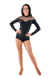 High Neck Long Sleeve Dance Bodysuit | SM Dance Fashion