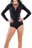 Mesh V-Neckline Dance Body Suit