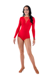 Mesh V-Neckline Dance Body Suit - Where to Buy Dancewear SM Dance Fashion Competition Outfit Costume
