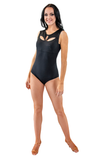 Rhinestones Drop Cut Sleeveless Dance Bodysuit | SM Dance Fashion