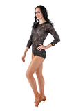Lace Embroidered Dance Bodysuit | SM Dance Fashion