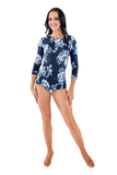 Flower Print Long Sleeve Bodysuit - Where to Buy Dancewear SM Dance Fashion Competition Outfit Costume