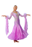 Purple Ballroom Competition Dress - Where to Buy Dancewear SM Dance Fashion Competition Outfit Costume
