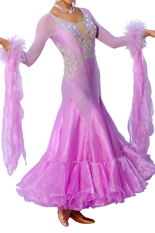 Purple Ballroom Competition Dress | SM Dance Fashion