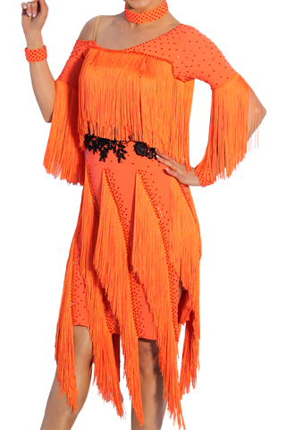 Fringe Latin & Rhythm Competition Dress - Where to Buy Dancewear SM Dance Fashion Competition Outfit Costume