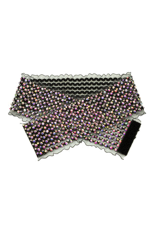 Multi Crystal Strand Belt-Front View | SM Dance Fashion