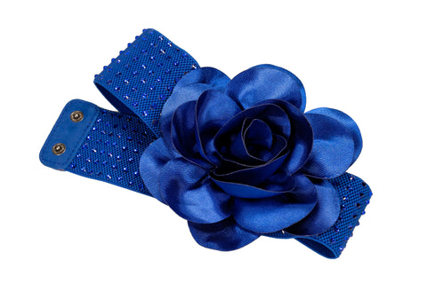Blue Floral Crystal Belt - Where to Buy Dancewear SM Dance Fashion Competition Outfit Costume