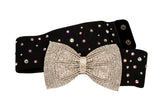 Crystal Bow-Buckle Rhinestones Belt-Front View | SM Dance Fashion