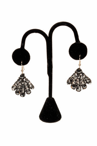 Finger Crystal Drop Earrings-Front View | SM Dance Fashion
