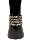 Velcro crystallized Weave Bracelet-Front View | SM Dance Fashion