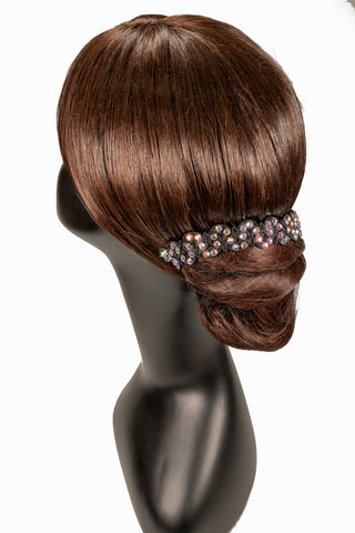 Scalloped Line Crystallized Hair Piece-Front View | SM Dance Fashion