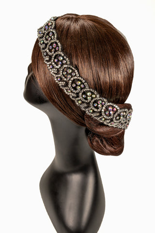Crystallized Spiral & Scalloped Line Hair Piece