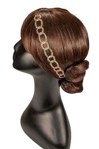 Chain Linked Crystallized Hair Piece - Where to Buy Dancewear SM Dance Fashion Competition Outfit Costume