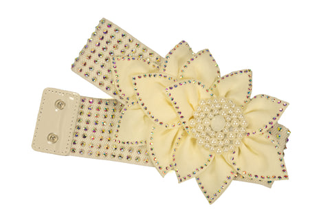Tiered Floral Crystal Belt - Where to Buy Dancewear SM Dance Fashion Competition Outfit Costume