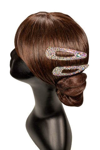 Crystallized Snap Hair Piece-Front View | SM Dance Fashion