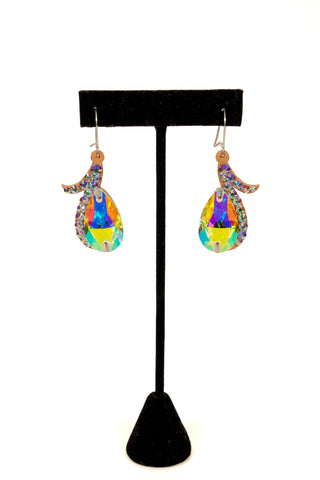 Oval Drop Dangle Earrings-Front View | SM Dance Fashion