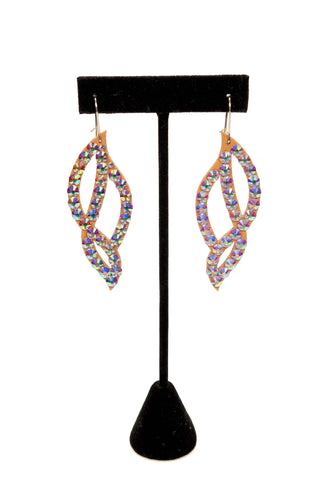 Weave Crystal Drop Earrings-Front View | SM Dance Fashion
