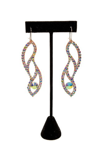 Three teadrop Woven Dangle Earrings-Front View | SM Dance Fashion