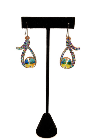Sphere Open Drop Earrings-Front View | SM Dance Fashion