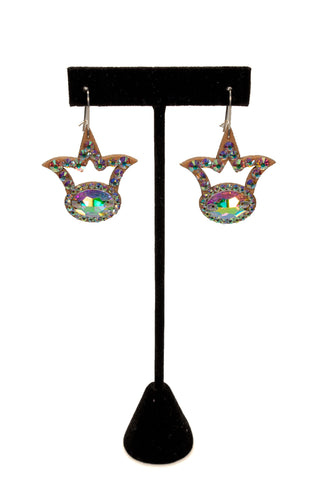 Crown Shaped Dangle Earrings - Where to Buy Dancewear SM Dance Fashion Competition Outfit Costume
