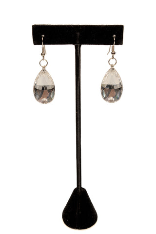 Crystal Diamond Earrings-Front View | SM Dance Fashion