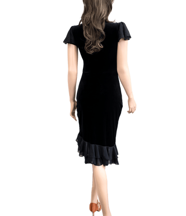 Black Velvet Latin & Rhythm Dress