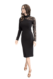 Black Long Sleeve Pencil Dress - Where to Buy Dancewear SM Dance Fashion Competition Outfit Costume