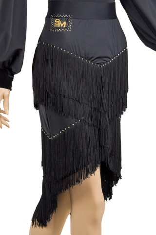Cascading Fringe Exclusive Skirt-Front Bottom View | SM Dance Fashion