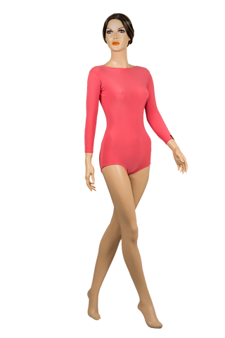 Scooped Back Bodysuit-Front View | SM Dance Fashion
