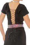 Tier Frill Lace Up Blouse - Where to Buy Dancewear SM Dance Fashion Competition Outfit Costume
