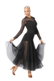Mesh Edge Gore Ballroom & Smooth Skirt - Where to Buy Dancewear SM Dance Fashion Competition Outfit Costume