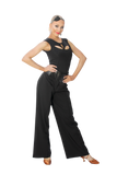 Leatherette High Waist Wide Ballroom & Smooth Trousers - Where to Buy Dancewear SM Dance Fashion Competition Outfit Costume