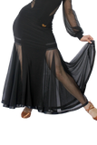 Transparent Mesh Ballroom Skirt - Where to Buy Dancewear SM Dance Fashion Competition Outfit Costume