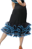 Trumpet Slit Frill Latin & Rythm Skirt - Where to Buy Dancewear SM Dance Fashion Competition Outfit Costume