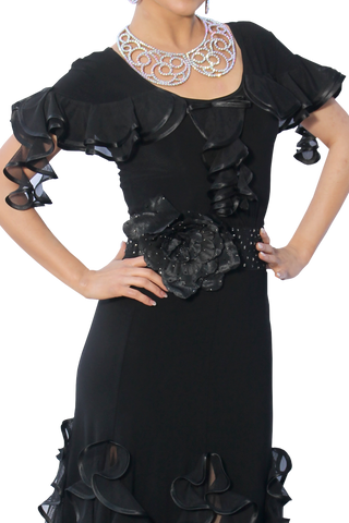 Cascading Frill Blouse - Where to Buy Dancewear SM Dance Fashion Competition Outfit Costume